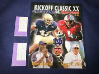 K1-56 NOTRE DAME VS MARYLAND FOOTBALL PROGRAM - AUG 31, 2002 - WITH TICKETS