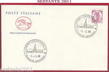 ITALIA FDC CAVALLINO CASTELLO D'ITALIA SERRALUNGA D'ALBA ANN. TORINO 1988 Z186