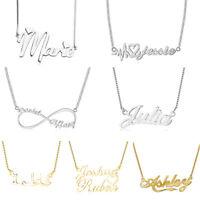 Personalized English Arabic Name Necklaces Custom Pendants Wedding Birthday Gift