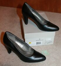 "BANDOLINO Ladies' Sz 10 HEELS/PUMPS (black matte; 3.5"" heel; round toe) EUC"