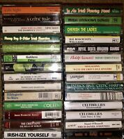LOT OF 28 CELTIC IRISH IRELAND CASSETTE TAPES DRINKING JOKES IRELAND LOOK!!!