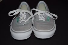 EUC VANS OFF THE WALL GIRLS GRAY MINT GREEN CANVAS SHOES SNEAKERS SIZE 1.5