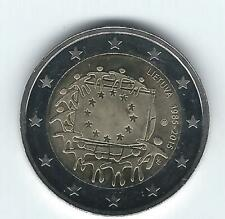Pièce 2 euros commémo Lituanie 2015 (30 ans Drapeau Européen)