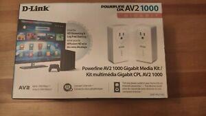 D-Link Powerline AV2 1000 2-Port Gigabit Passthrough Starter Kit DHP-P621AV USED
