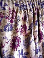 MARKS AND SPENCER HEAVY LINED FLORAL 4 X  CURTAINS 115CM W X 131CM L