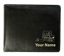 Personalised Slimline Real Leather Wallet - Snoopy Design