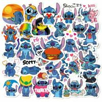 50Pcs Lilo Stitch Cartoon Stickers Laptop Luggage Kids Toys Decals Scrapbooking