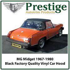 MG Midget / AH Sprite Car Hood Hoods Soft Top Black Vinyl 1967-1980