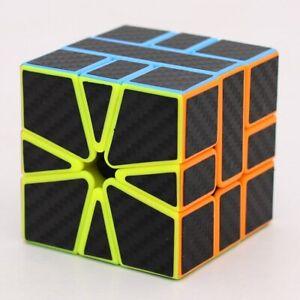Carbon Fiber Sticker Strange Shape Cubo Magico Puzzle Rubik Cube Rubix Rubic Toy