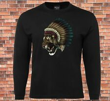 JB's Long Sleeve Black T-shirt Warlord Tiger Chief Cool New Design