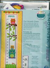 Owl Growth Chart - Dimensions Counted Cross Stitch Kit - NEW