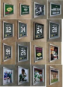 Joe Namath Curtis Martin New York Jets Framed 8x10 Jersey Photo MAN CAVE
