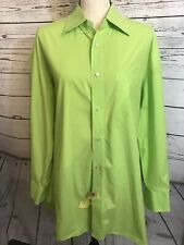 Borrelli Napoli dress shirt Made in Italy Large lime green