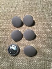 Dove Grey 30L/19mm Fabric Covered Buttons Craft Sewing Upholstery