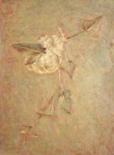 Vintage Bulgarian Expressionist Floral Oil Painting, Signed