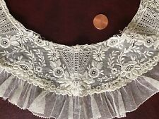 White embroidered lace and ruffled collar Costume