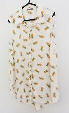 Ladies Pineapple Print Sleveless Shirt George Size 12
