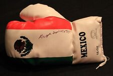 """GASPER """"INDIO"""" ORTEGO AUTOGRAPHED SIGNED MEXICO MEXICAN FLAG BOXING GLOVE"""