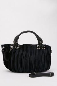 Pom Pom Trim Handbag Black Detachable & Adjustable Strap