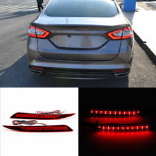 2x LED Lens Rear Bumper Reflector Brake Light Red For Ford Fusion Mondeo 2013-18