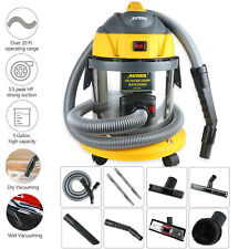 AUTOOL Car Wet Dry Vacuum Cleaner 15L 5.5 Peak HP 12V 1000W Stainless Steel
