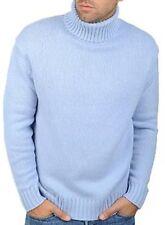 Balldiri 100% Cashmere Rollkragen Pullover 10-fädig himmelblau XXL