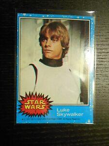 1977 Topps STAR WARS Series 1 Blue #1 Luke Skywalker *NICE* (1st Card To 66 Set)