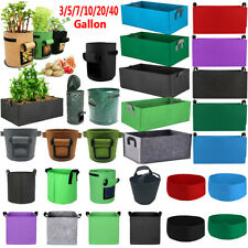 3/5/7/10/20/40 Gallon Plant Root Pots Pouch Grow Bag Container Container Garden