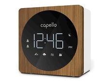 NEW! Digital Alarm Clock with Sound Machine Black/Larch - Capello