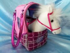 PUCCI PUPS & FRIENDS PONY HORSE IN A CARRY BAG PINK PLAID PRINT PURSE