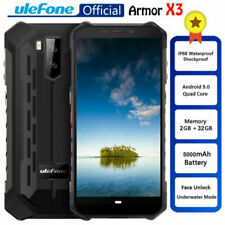 "Ulefone Armor X3 5.5"" Android 9.0 IP68 Rugged Smartphone Quad Core 32GB 5000mAh"