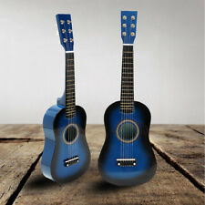 "BLUE 23"" INCH KIDS WOODEN CONCERT ACOUSTIC GUITAR MUSICAL INSTRUMENT CHILD GIFT"