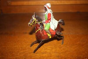 ANTIQUE GERMANY GUNTHERMNAN BERBER WARRIOR ON HORSE Wind Up Tin Toy No Reserve