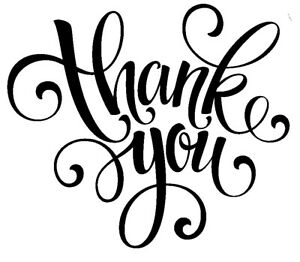 Thank You - Text #3 Unmounted Clear Stamp Approx 60x54mm