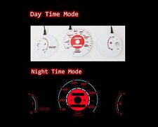 96-00 Honda Civic MT w/o Tach RED Indiglo Glow White Gauges