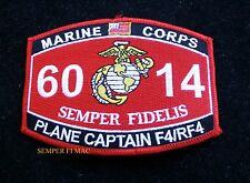MOS 6014 PLANE CAPTAIN F4 RF4 COMM HAT PATCH US MARINES PIN UP USS FMF MWCS WOW
