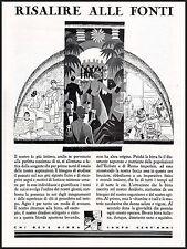 PUBBLICITA'1930 CHI BEVE BIRRA CAMPA 100 ANNI PROPAGANDA BIRRA ITALIANA ASSIRI