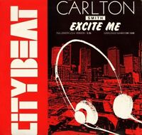 "CARLTON SMITH excite me CBE 1208 uk city beat 1986 12"" PS EX/EX"