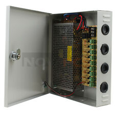 9 Channel CH CCTV Security Camera PTC Power Supply Box Distribution 12V 10A DC