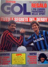 SUPERGOL=N°23 12/1985=DERBY INTER-MILAN=STORIA DEI MONDIALI=IL CANADA=COLLOVATI