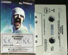 SCORPIONS BLACKOUT CASSETTE US ISSUE MERCURY / POLYGRAM