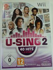 !!! NINTENDO Wii SPIEL U-Sing 2, gebraucht aber GUT !!!