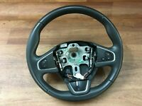 Renault Captur TCe90 2016 3 spoke black leather multi function steering wheel