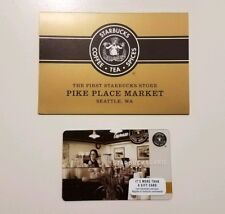 Starbucks Original First Store Pike Place card with Sleeve. New. (6136) HTF!