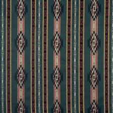 F380 Striped Southwestern Navajo Lodge Style Upholstery Grade Fabric By The Yard