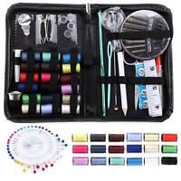 134x Set Home Sewing Kit Case Needle Thread Tape Scissor Button Convenient