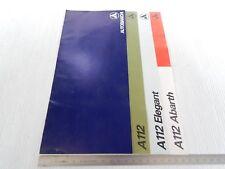 BROCHURE ORIGINALE AUTOBIANCHI A112 112 NORMALI ED ABARTH DEPLIANT PROSPEKT