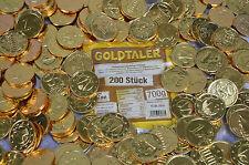 200 STÜCK GOLDTALER TALER SCHOKOLADE  EUROMÜNZEN PIRATENGOLD GOLDMÜNZEN 0,70 KG