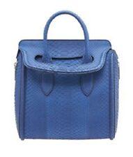 5df9b6cbd2 Alexander McQueen Navy Blue Python Leather Mini Heroine Crossbody Bag