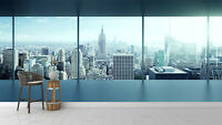 3D New York City Self-adhesive wallpaper Room wall decoration sticker Removable